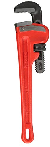 RIDGID 31015 Model 12 Heavy-Duty Straight Pipe Wrench 12-inch Plumbing Wrench