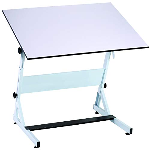 Bieffe Artist Drafting Table - Professional European Style Metal Adjustable Tabletop Drawing, Reading, Writing, Art Craft Work Station - 30