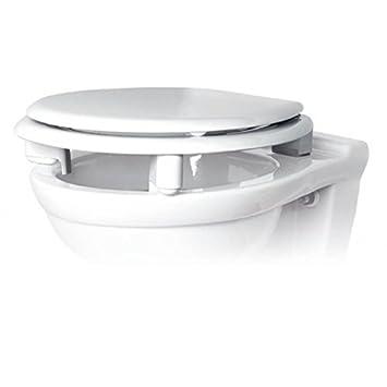 Admirable Abattant WC Rehaussé 70 mm Antibactérien TRADITION Blanc Bioactif WV-41
