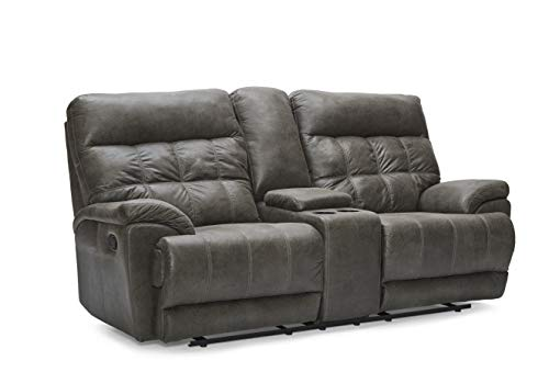 (Lane Home Furnishings 56500P-63 Expedition Shadow Power Motion LOVESEAT, Grey)