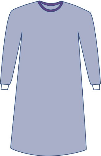Medline DYNJP2703 Sterile Non-Reinforced Aurora Surgical Gowns with Set-In Sleeves, XX-Large, Blue (Pack of 18)