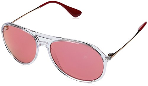 Ray-Ban Men's Alex Non-Polarized Iridium Aviator Sunglasses, Transparent, 59.1 - Ban Sunglasses Ray Clear Aviator