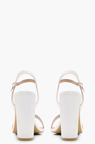 Block Barely YourPrimeOutlet There Talons Paige Womens Blanc Owvwq4Fn8