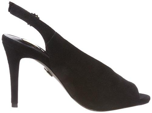 black Abierto De Sandalias Talón Para Mujer 317 Suede 2931 01 Buffalo Negro SxwqUv6n
