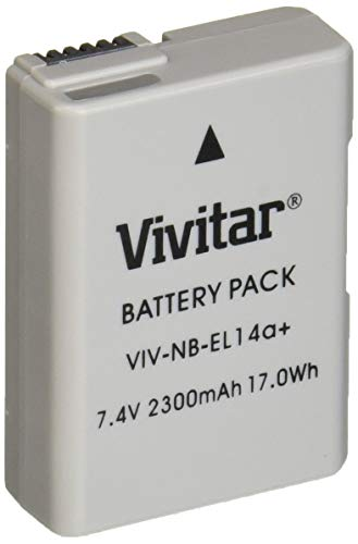 - Vivitar EN-EL14 / EN-EL14a Ultra High Capacity 2300mAh Li-ion Battery for NIKON DSLR D5300 D5200 D5100 D3300 D3200 D3100, COOLPIX P7800 P7700 P7100 P7000, Nikon DF (Nikon EN-EL14 Replacement)