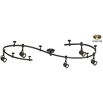 Hampton Bay 904270 5 Light Antique Pinhole Flexible Track Lighting Kit, 10  Ft,Bronze Retro/Black