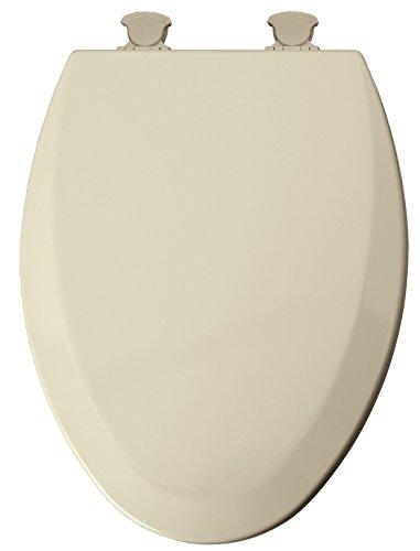 Mayfair Elongated Toilet Seat Beveled Wood, Elongated, Molded, Premium Durable Multi Coat Enamel Bon ()