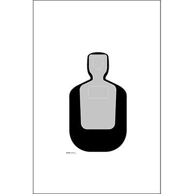 24 Pcs, 50-Foot Reduced Tq-19 Qualification Target Black & Gray Size: 12
