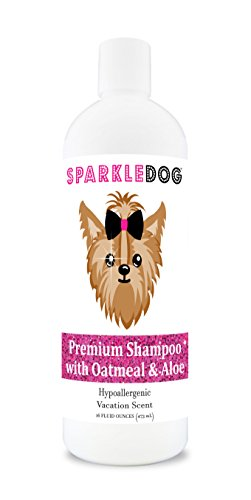 SparkleDog Oatmeal Dog Shampoo with Aloe – Hypoallergenic Formula & pH Balanced – Alcohol Free – for Dry Itchy Sensitive…
