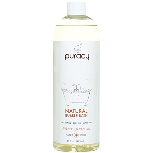 Puracy Natural Baby Bubble Bath, Lavender & Vanilla, Tear-Free, Sulfate-Free, Hypoallergenic, 16 Ounce (Bubble Relaxing Bath)