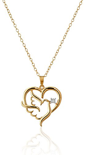 Plated Diamond Accent Heart Pendant Necklace
