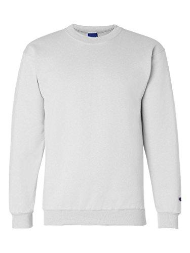 Champion Adult 50/50 Crewneck Sweatshirt, White - Size Small