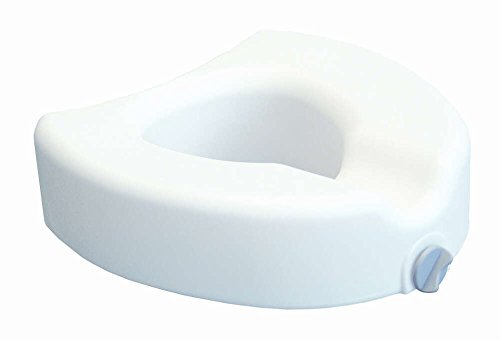 MediChoice Toilet Seat, Raised, Front Clamping, 16.5 Inches Wide x 16.5 Inches Deep x 4.5 Inches High, 300-pound Evenly Distributed Weight Capacity, Heavy-Duty Plastic Seat (Each of 1)