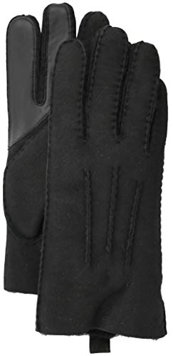(UGG Men's Water Resistant Sheepskin 3 Point Gloves Black LG)