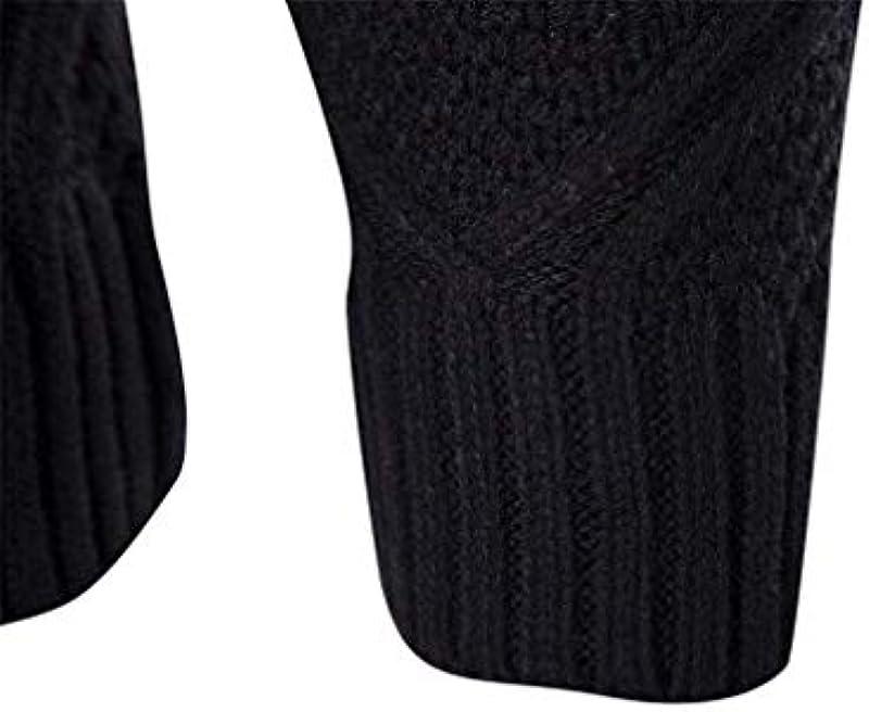 Męski sweter z długim rękawem jesień zima okrągły dekolt odzież casual Knit wycięcie sweter modny luźny standardowy sweter dziergany: Odzież