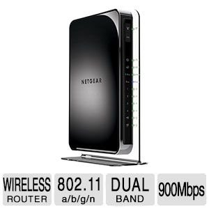 Refurbished Netgear WNDR4500-100NAR N900 Dual-Band 450Mbps Wireless-N Router