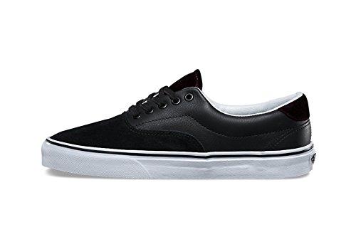 Vans Unisex Era 59 Fluwelen Skateschoen (7 D (m) Us, Zwart / Rood)