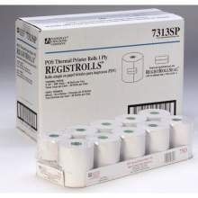 National Checking Company 1 Ply Register Roll, 3.13 inch - 50 rolls per case.