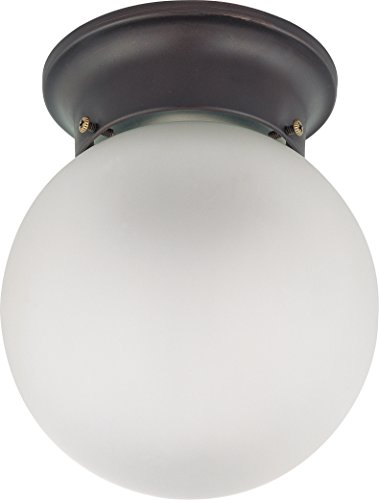 (Nuvo 60/3154 Mahogany Bronze 6-Inch Flush Ball with Frosted Glass)