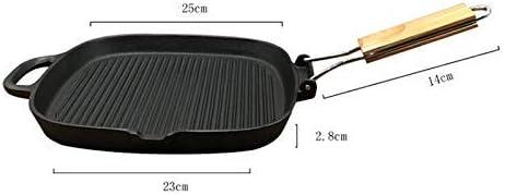 Mnjin Accueil 25cm poêle, Plat Teppanyaki, Barbecue Maison, Poisson poêlé, Steak épaissi, poêle, poêle