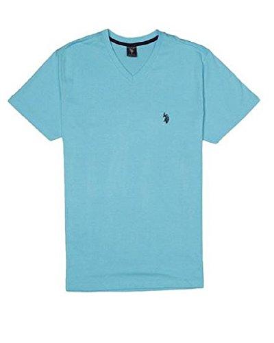 U.S. Polo Assn. Men's V-Neck T-Shirt, Blue Sea, Large