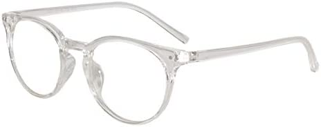 04703d9926 Peter Jones Round Transparent Unisex Optical Frame (2283W)  Amazon ...