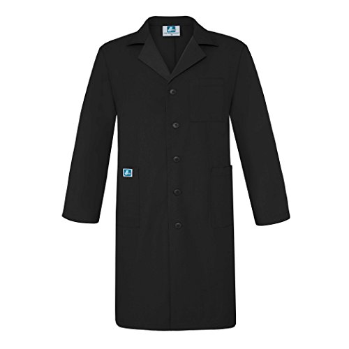 """Adar Universal Mens 39"""" Labcoat with Inner Pockets - 803 - Pewter- Size 40"""