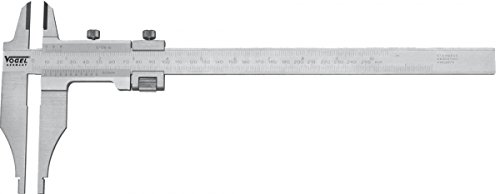 Workshop Caliper 500mm/20'' vernier 0.05mm-1/128'' read., chromed, with fine adjustment with points, in a box by Vogel Germany