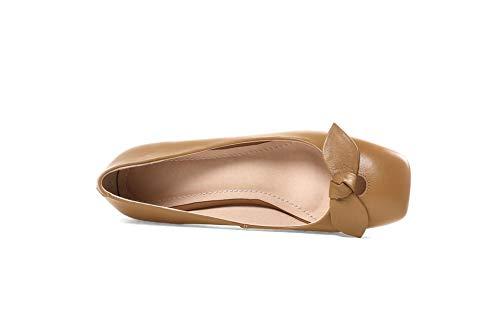 APL11192 Shoes Bows Charms Urethane Womens Solid BalaMasa Khaki Pumps wYt0qOF