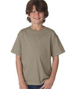 Big Kids Tan Apparel - Fruit of the Loom Boys 5 oz.Heavy Cotton HD T-Shirt (3931B) -Khaki -L