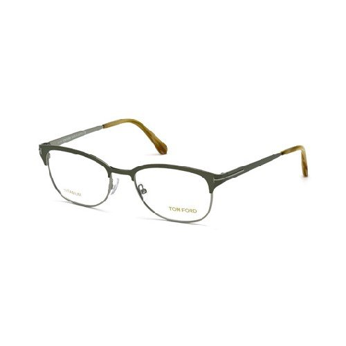 TOM FORD Eyeglasses FT5381 093 Shiny Light Green 52MM
