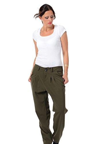 relajados Pantalones Pantalones Green de Jasmin mujer 3elfen 65PqR