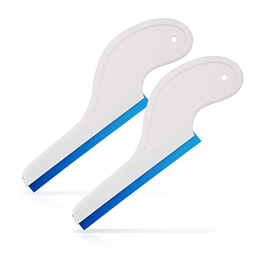 Ehdis Car Squeegee with Soft Silicone Water Blade Auto Vinyl Squeegee with Handle Car Vehicle Window Washing Cleaning - 2 PCS