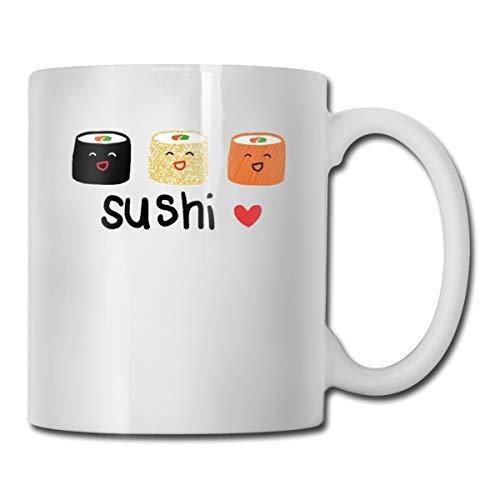 FOECBIR Cute Sushi Custom Coffee Mugs 11Oz Mens