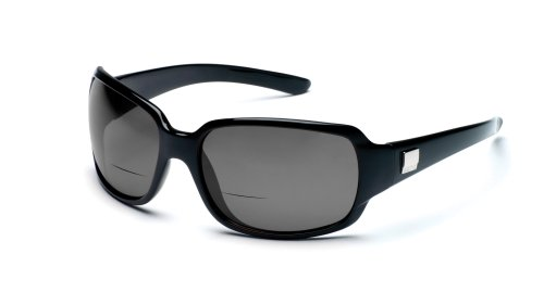 Suncloud Optics Cookie Prescription Bifocal,Sunglasses,Black with Gray Polarized Lens - Star Optics Suncloud Sunglasses