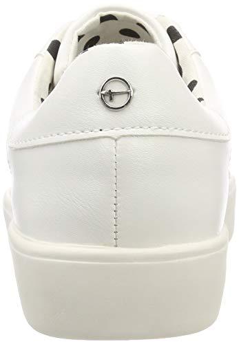 Dots wht 23724 Femme blk 145 145 22 Tamaris 1 Blanc Sneakers Basses 1 PpqpE1WwSz