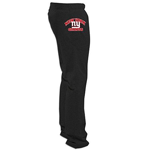 (ElishaJ Men's New York Sport Football Team Funny Active Trousers Black 3X)