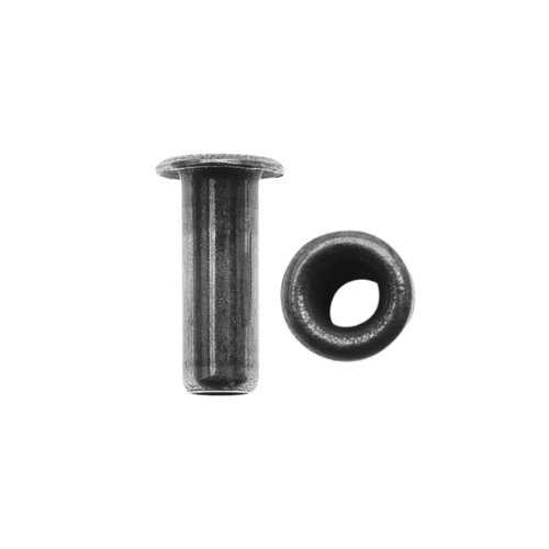 TierraCast Hollow Eyelets for Leather 7mm Long 3.8mm Diameter, 10 Pieces, Antiqued Pewter Color ()