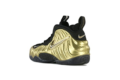 Nike Men's Air Foamposite Pro Basketball Shoes Metallic Gold, Black-black