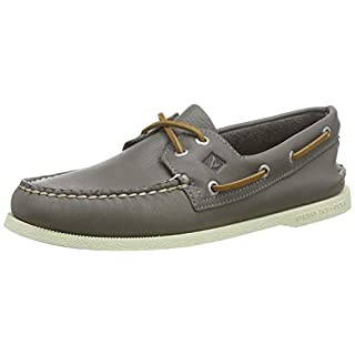 Sperry Men's A/O 2-Eye Leather Sneaker, Grey, 7.5 Medium