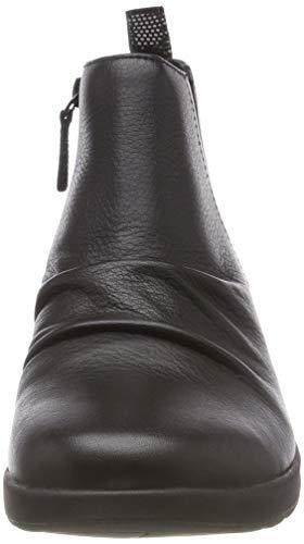 Clarks Leather Adorn Un Nero Stivali Mid Black Donna Arricciati rFr8q