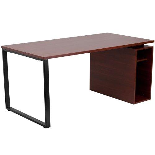 computer desk mahogany