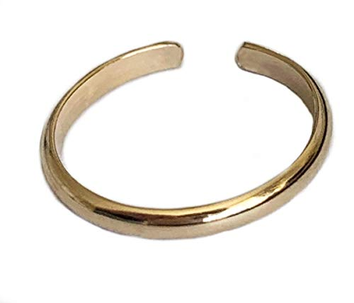 Toe Ring | 2MM Band 14k Gold Fill | Adjustable Ring for Foot Or Midi for Women, Girls, Or Men | Attire for Your Toes | Made in The USA ()