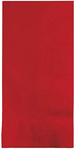 (100 Classic Red Dinner Napkins for Wedding, Party, Bridal or Baby Shower, Disposable Bulk Supply Quality Product (Classic Red))