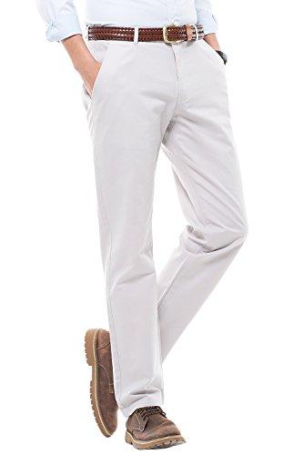 de Pantalones Marfil Hombre Rectas Liso Estilo de Harrms con Corte Casual Pantalones Recto Elegir Colores 16 Hombre para Perneras zqFgUdw