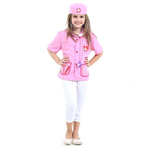 Enfermeira Infantil Sulamericana Fantasias Rosa U - Único