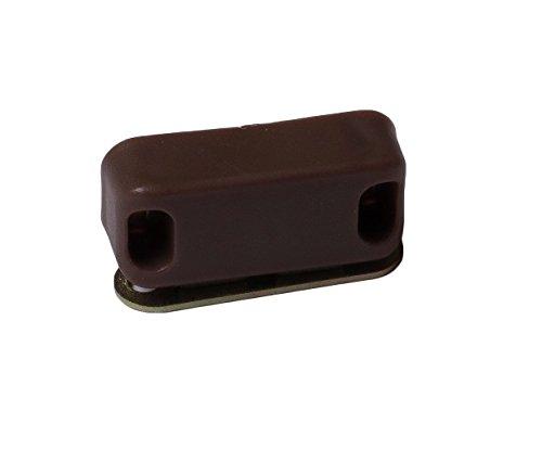 Braun Wei/ß St/ück Mittel Packung /à 10 Bulk Hardware BH02472 Magnetverschluss