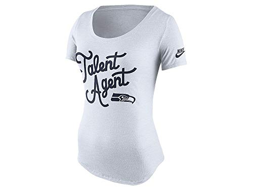 Nike Seattle Seahawks Tri-Blend Talent Agent Women's Shirt (Large) ()