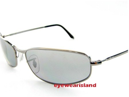 7aba14e58e New Ray Ban Sunglasses Rb- 3216 004-82 Gradient Grey Lens Silver Frame  Rb3216 Size  59-17-130  Amazon.co.uk  Clothing