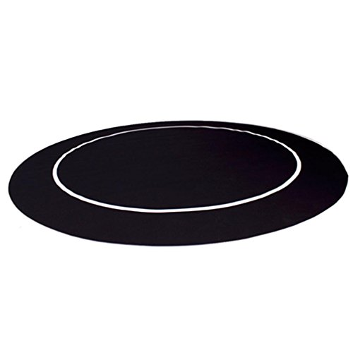 54'' Black Sure Stick Round Poker Table Layout with Rubber Grip Matting By Brybelly by Brybelly